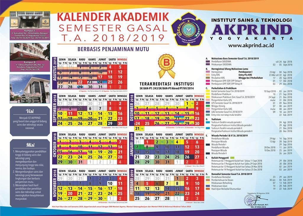 Kalender Akademik IST AKPRIND