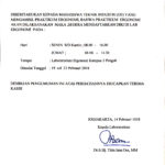 Pendaftaran di Laboratorium Ergonomi Jurusan Teknik Industri IST AKPRIND Yogyakarta