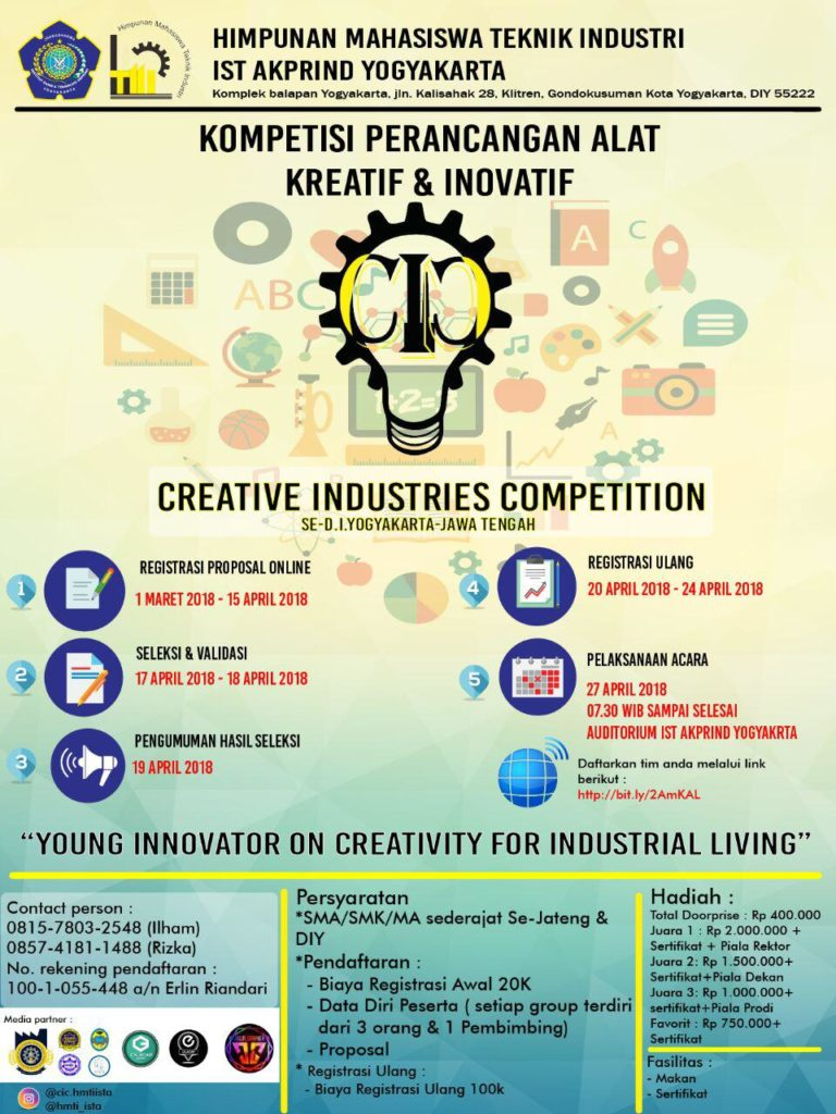 Young innovation on creativity for industrial living teknik industri akprind