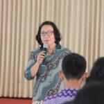 Sambutan kepala Laboratorium PTLF Ir Risma A Simanjuntak MT dari Jurusan Teknik Industri IST AKPRIND Yogyakarta