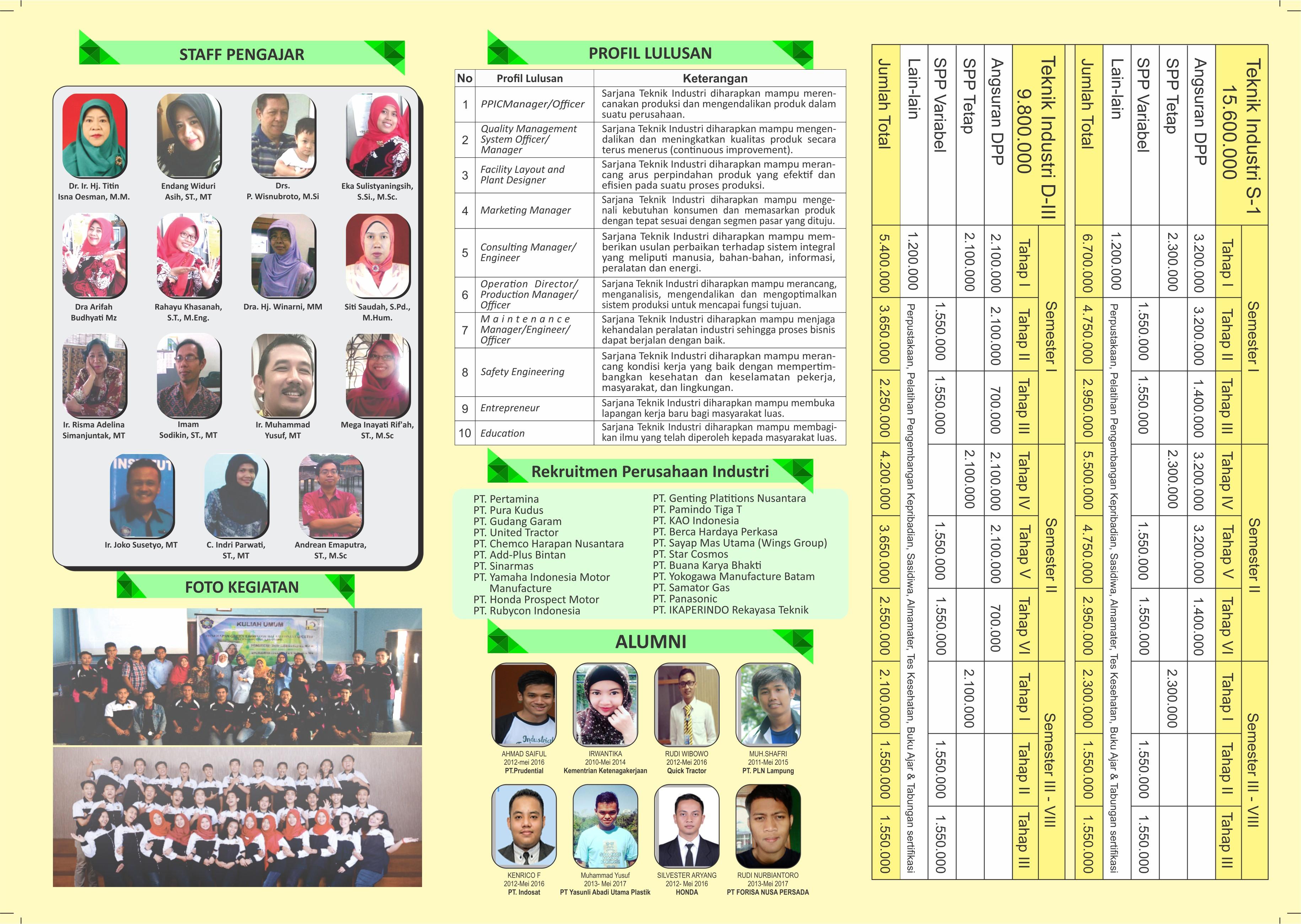 Brosur Teknik Industri IST AKPRIND TA 2017/2018