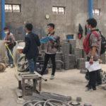 Pengukuran tata letak pabrik setiap departemen di CV Bonjor Jaya Klaten