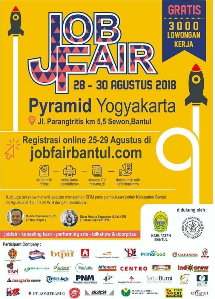 Job Fair Bantul 28-30 Agustus 2018