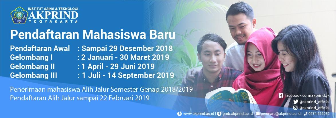 Banner Resmi AKPRIND 2018/2019
