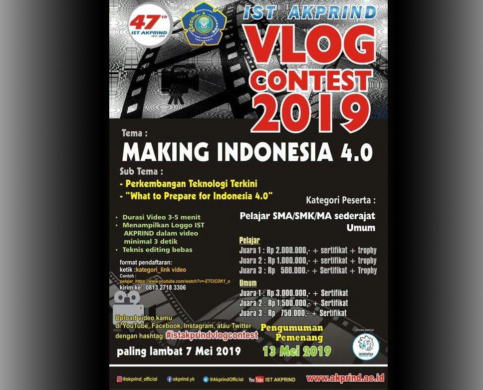 Let's Join IST AKPRIND Vlog Contest 2019 !