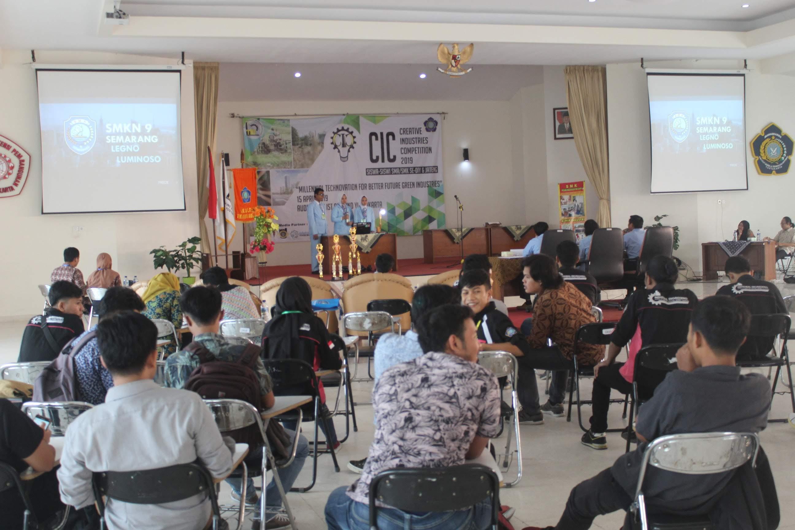 Tingkatkan Inovasi siswa SMA/K Se-DIY & Jateng Melalui Kompetisi Industri Kreatif 2019