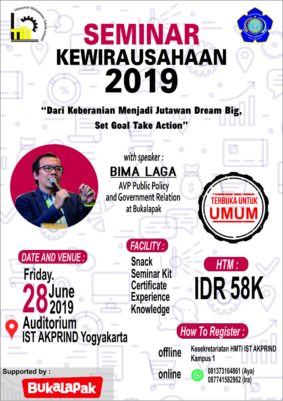 Mari Perdalam Ilmu Kewirausaahan Bersama Bima Laga AVP Public Policy and Government Relation at Bukalapak