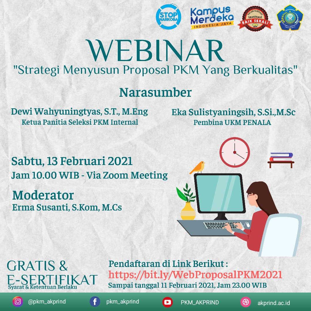 """IkutilahWebinar dengan tema """"Strategi Menyusun Proposal PKM yang Berkualitas"""""""