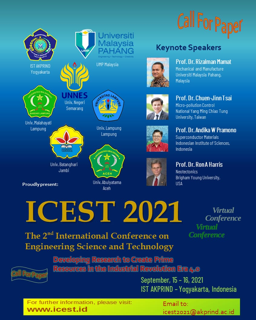 Call For Paper ICEST 2021
