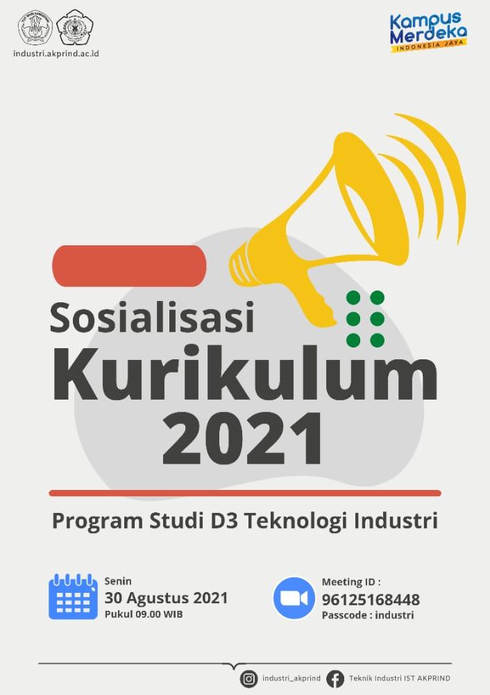 Sosialisasi Kurikulum 2021 Prodi D3 Teknologi Industri