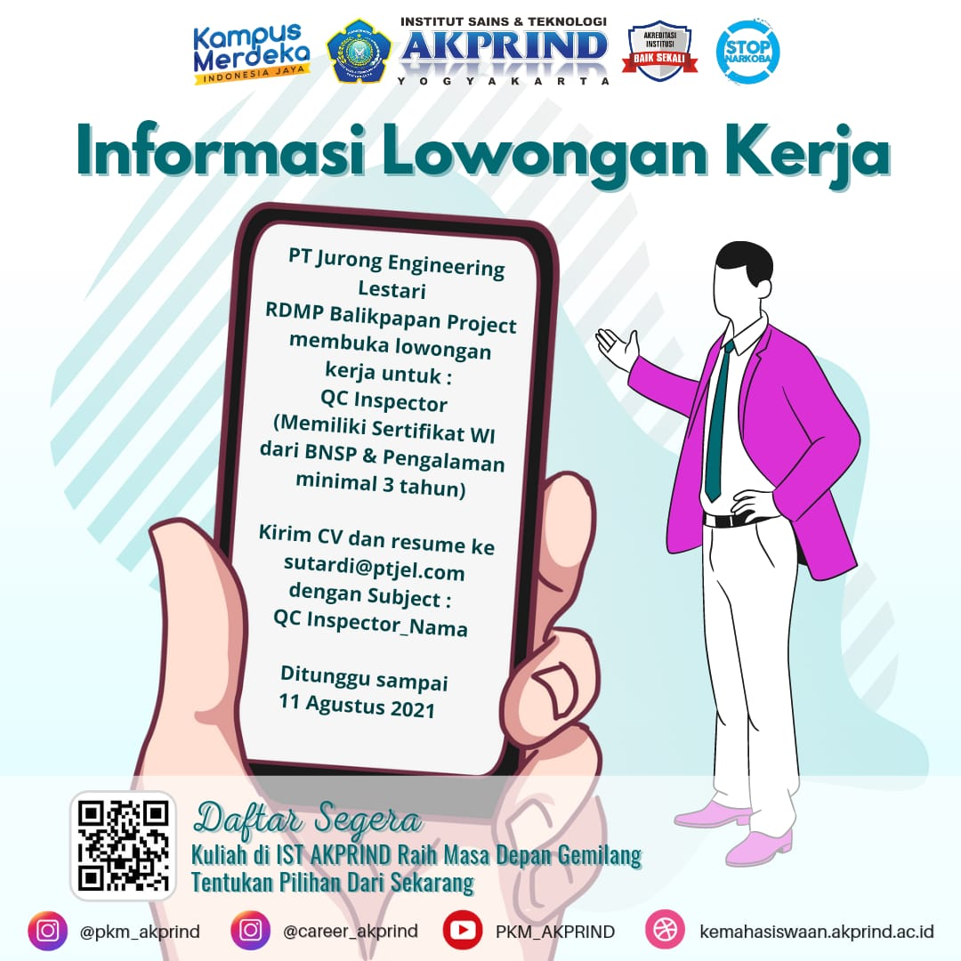 Info Lowongan Kerja PT Jurong Engineering Lestari RDMP Balikpapan