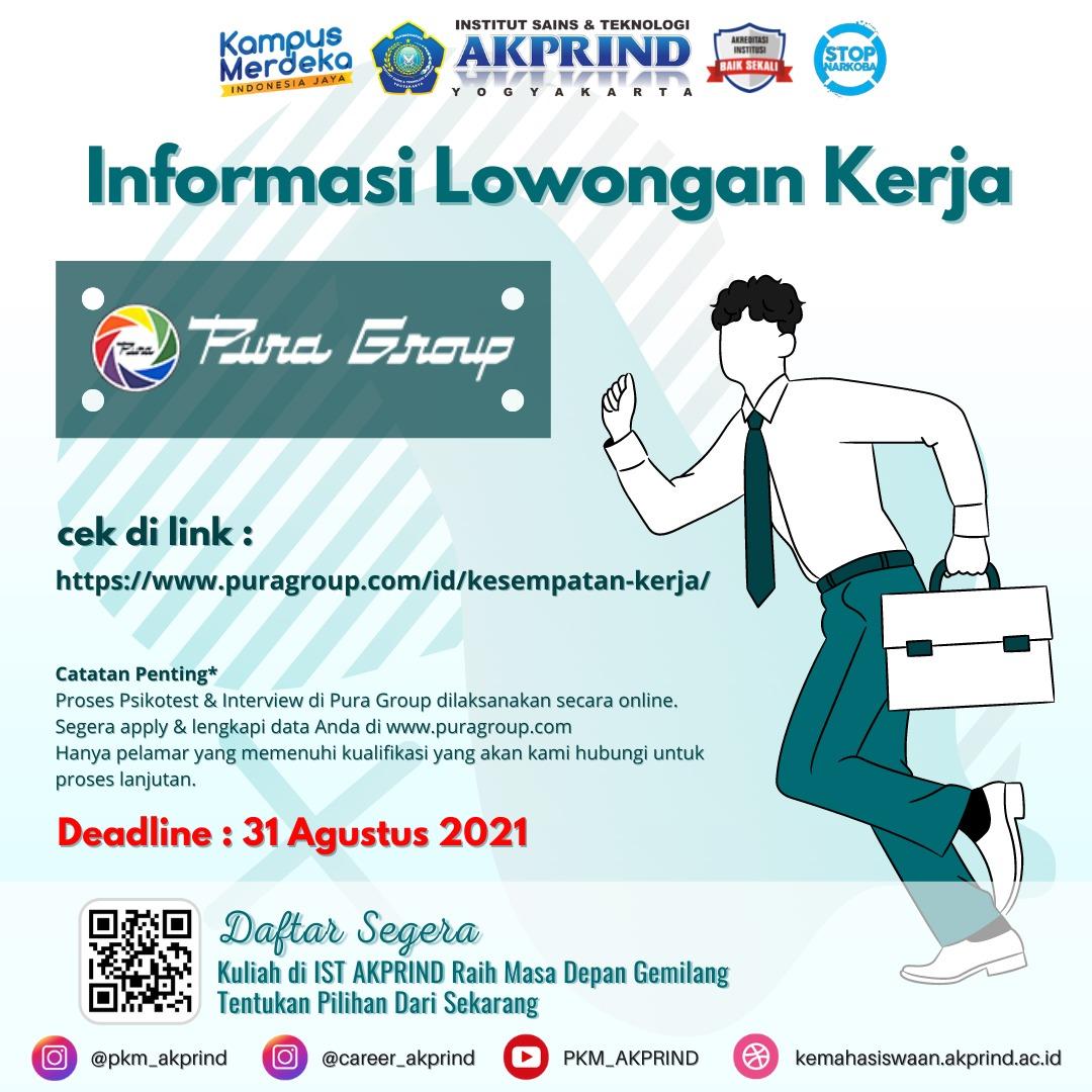Lowongan Kerja: PURA GROUP INDONESIA